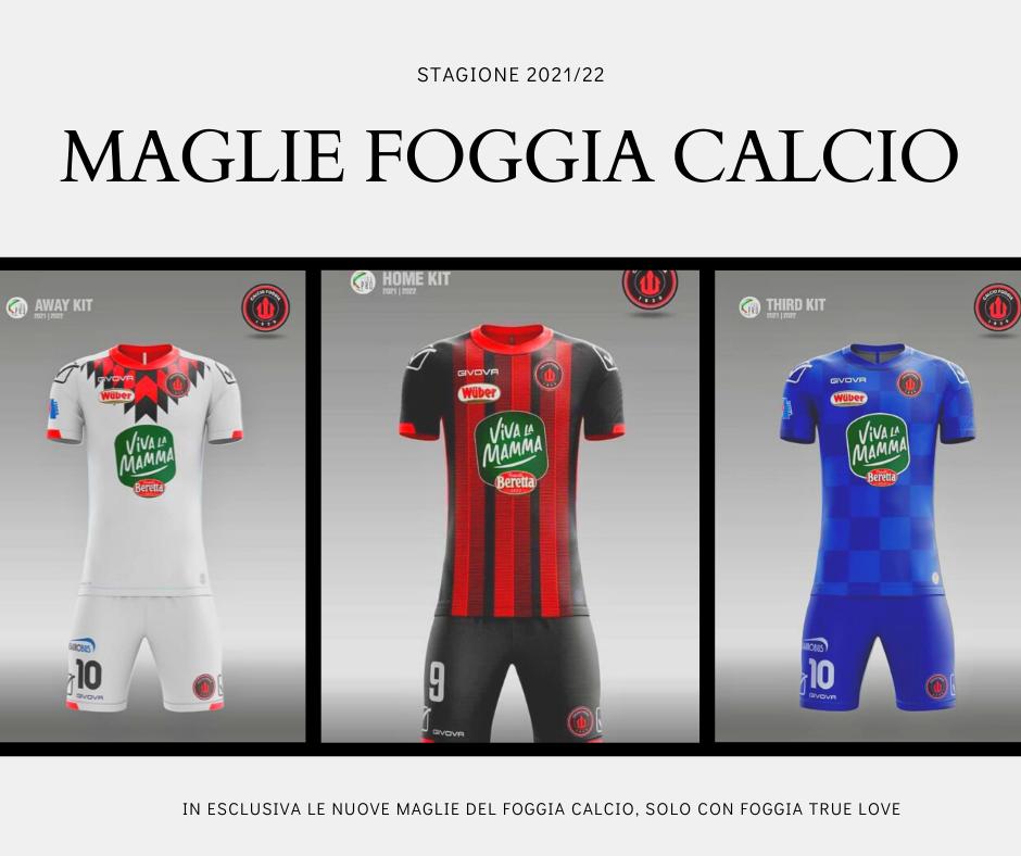 In Esclusiva Le nuove maglie Del Foggia Calcio Givova 2021 2022