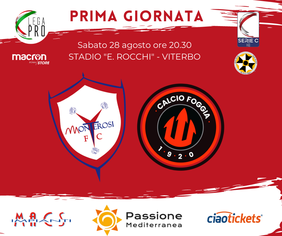 Monterosi Tuscia Fc – Foggia Calcio 28 Agosto 2021 Info biglietti