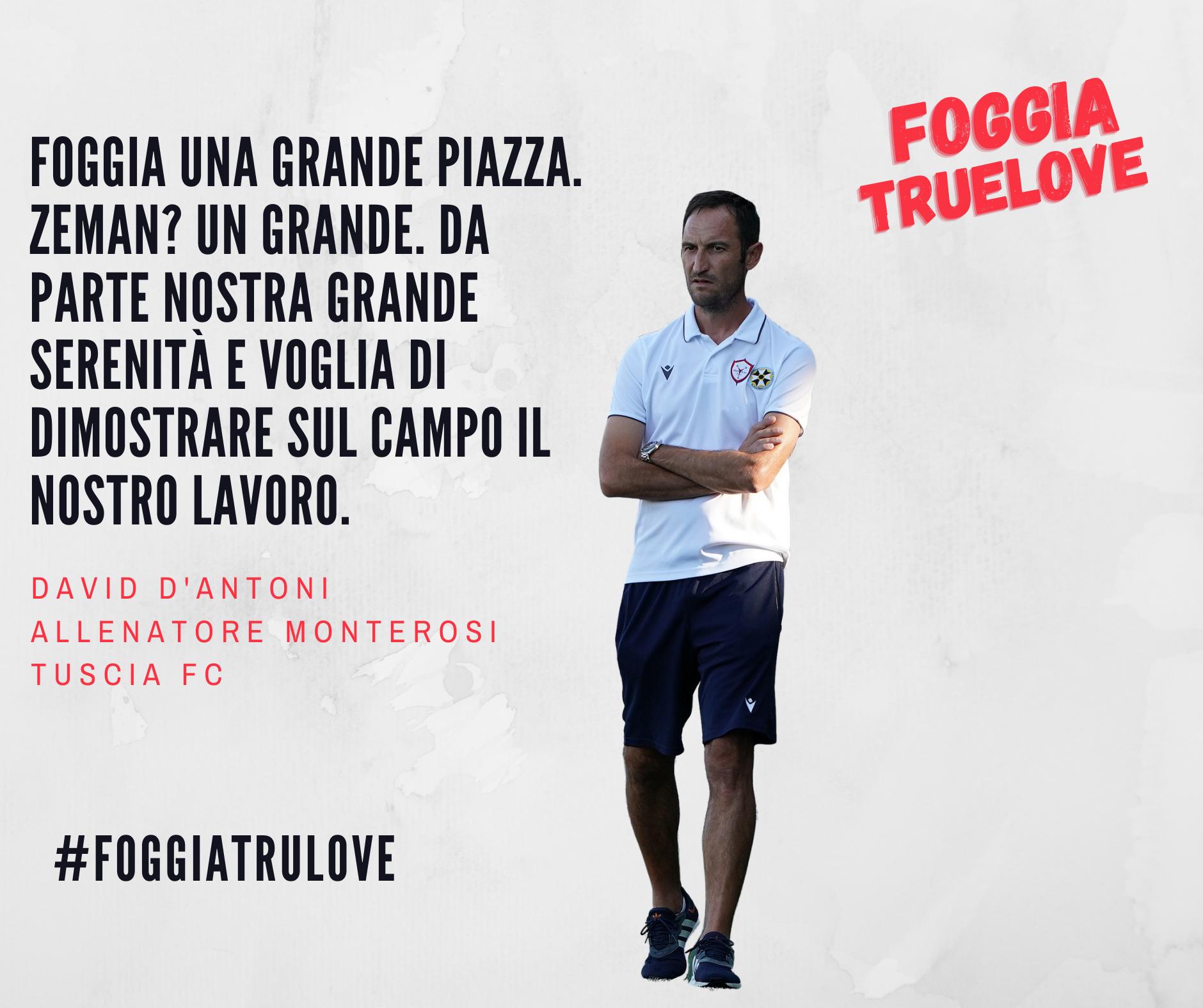 Intervista Esclusiva Mister D'Antoni in vista di Monterosi Tuscia Fc – Foggia Calcio